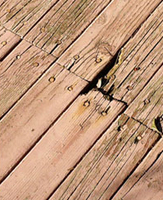 pressure treated decking rotting and splitting