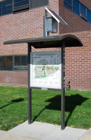 Solar Powered Kiosk Light