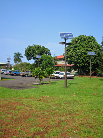 Hilo Hawaii Solar Powered Parking Lot Lights