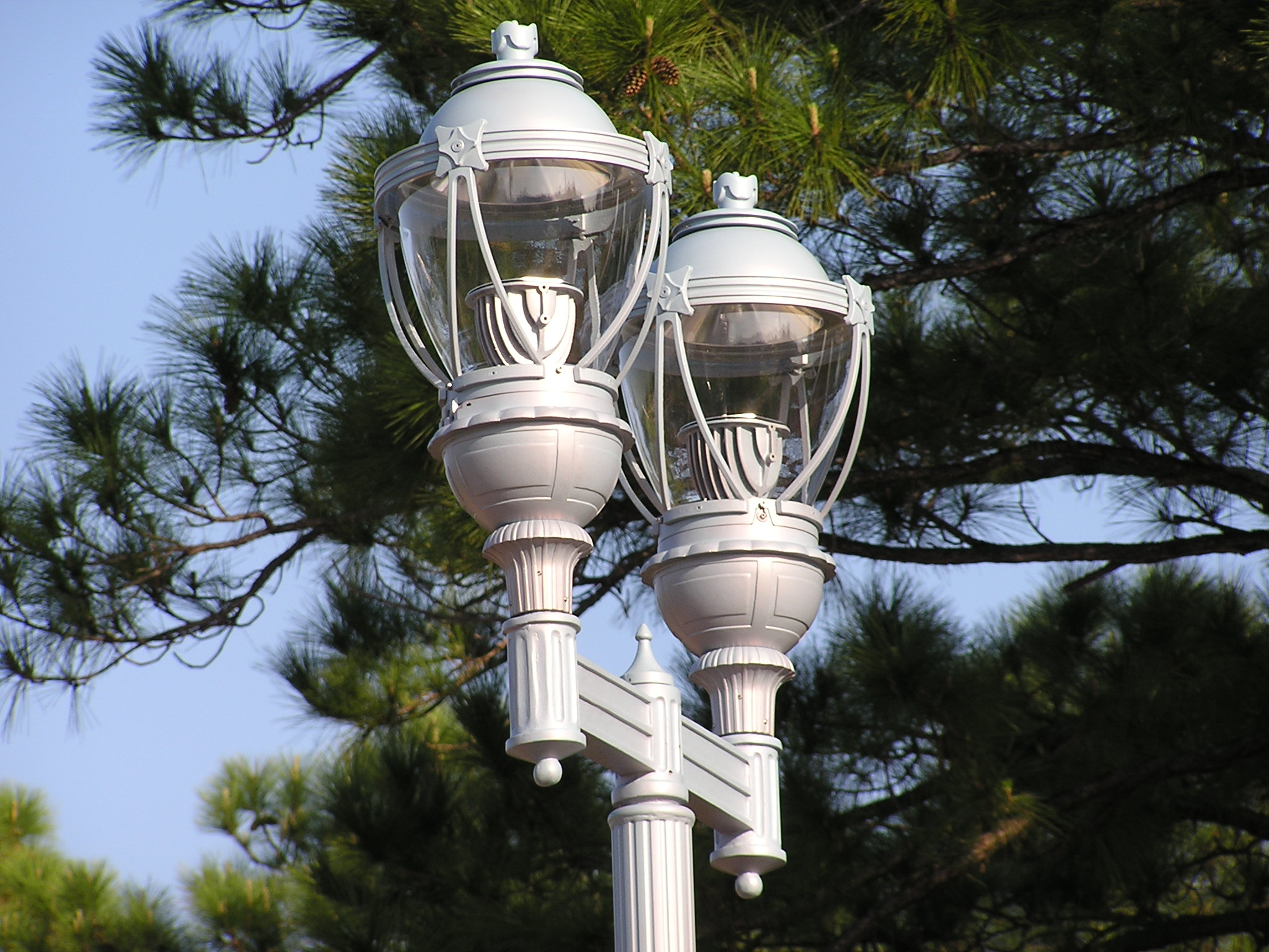 Decorative Solar Lamp Post Lights On Salerno Road