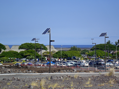 Solar Parking Lot Lights Kona Airport