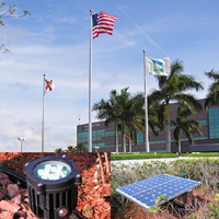 Solar Flag Pole Lighting
