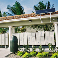 Solar Building Structure Lights