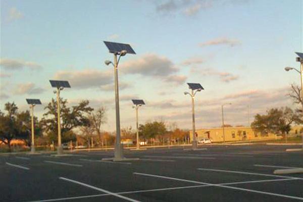 Solar Lighting For Parking Lot At Va Temple Tx