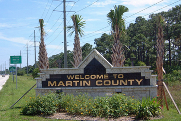 Martin County solar sign lights