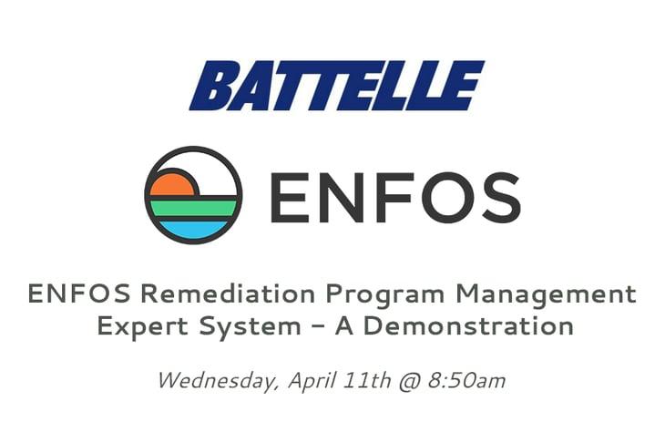 ENFOS Presents the Remediation Program Management Expert System at Battelle