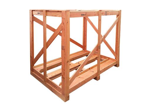 open wooden crates