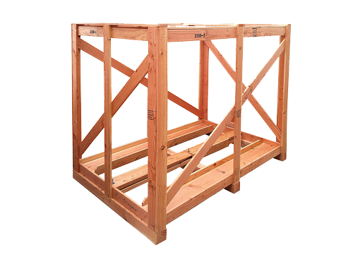 open custom wood crates