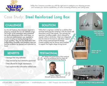 san diego crating steel reinforced case study