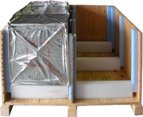 wooden crate vapor barrier bag