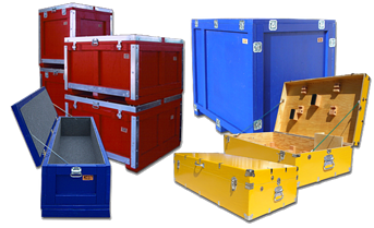 custom shipping crates painted