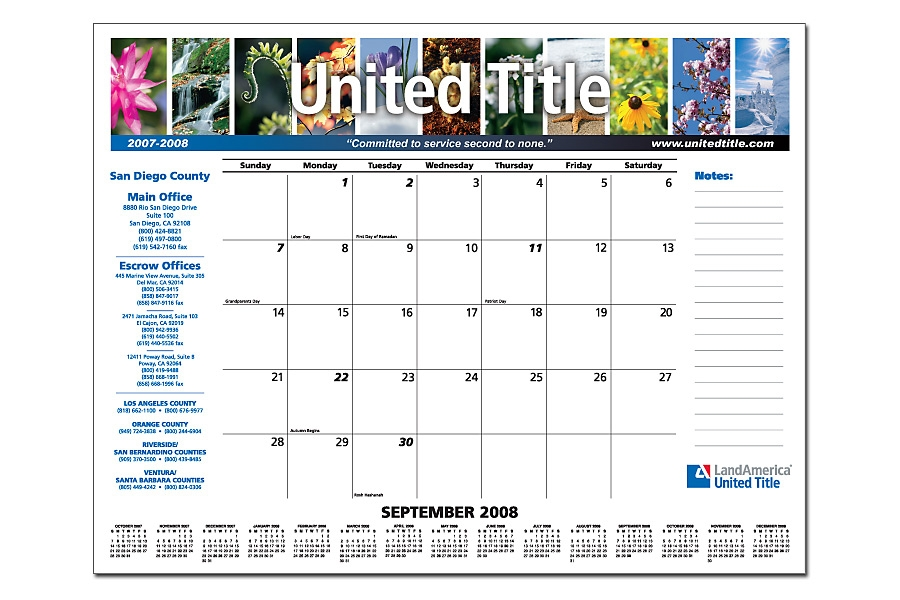 Promotional Calendar Custom Calendars