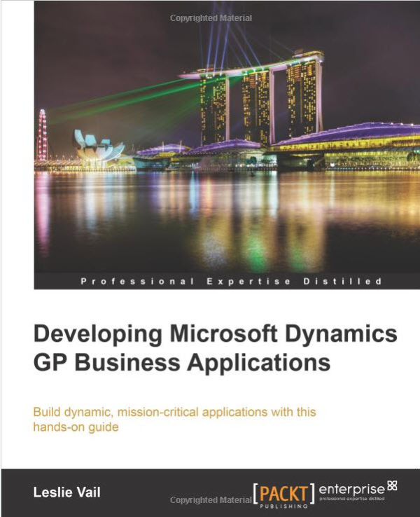 Belinda, the Microsoft Dynamics GP CSI reviews a new resource written by Leslie Vail on Microsoft Dynamics GP Business Applications.