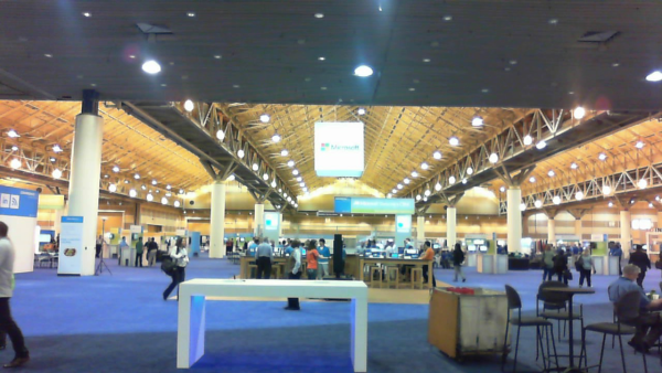 The Expo floor @ Microsoft Dynamics Convergence is setting up for a great Conference!