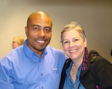 Mariano Gomez and Belinda Allen attending a Microsoft Dynamics GP technical conference.