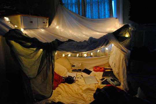 indoor apartment fort