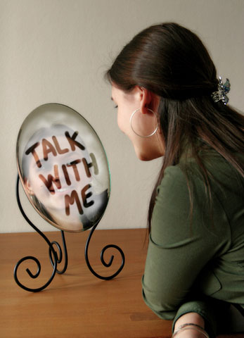 mirror reflection talk