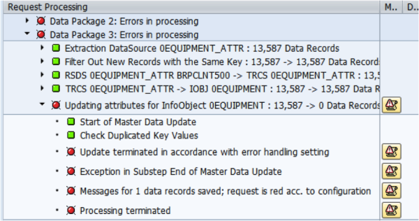 SAP DTP Error Message
