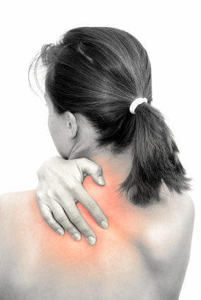 woman needing neck pain relief