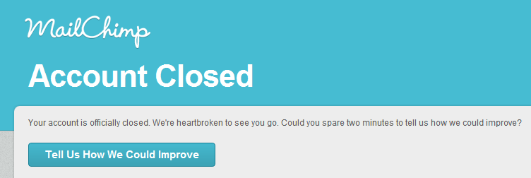 mailchimp cancellation flow closed now 6