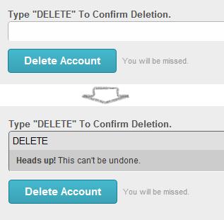 mailchimp cancellation flow delete field 5