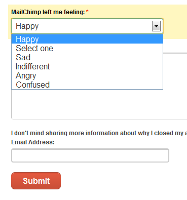 mailchimp cancellation flow qual feeling 8