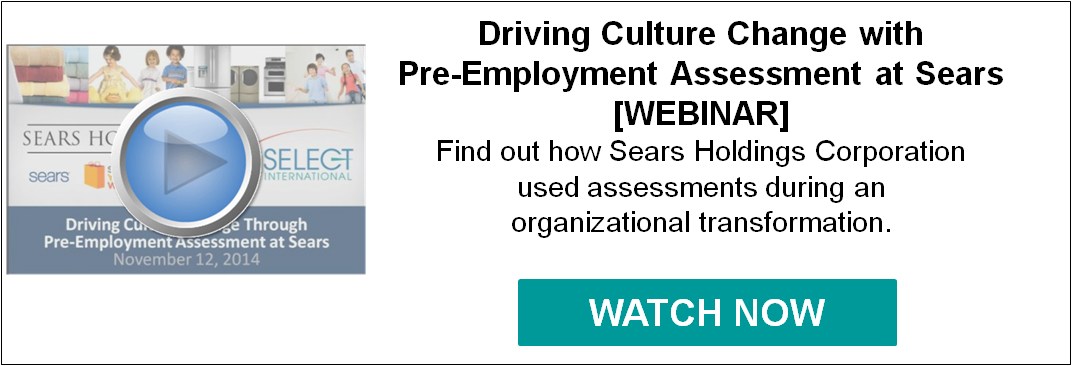 Driving Culture Change with Pre-Employment Assessment