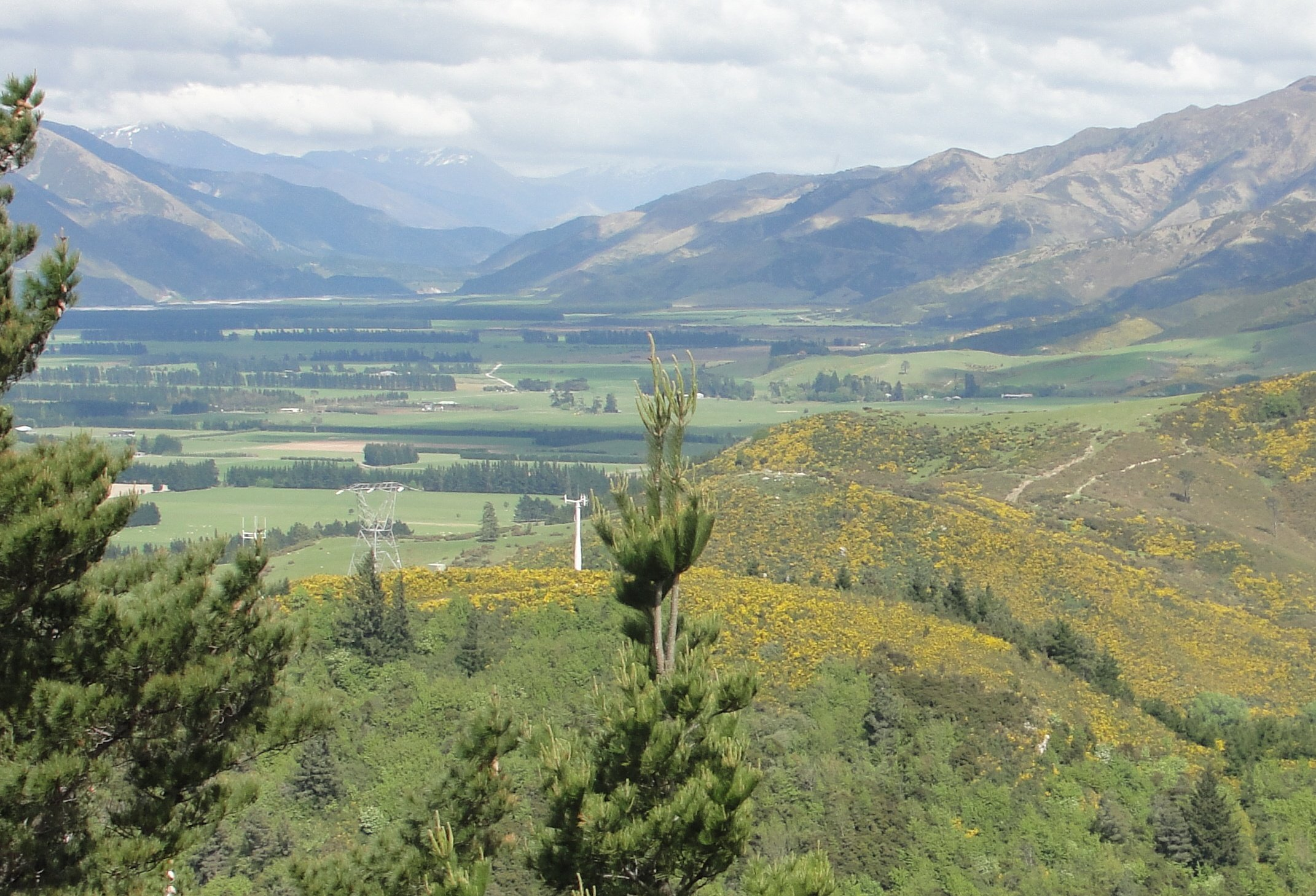 Hanmer Springs view from Conical