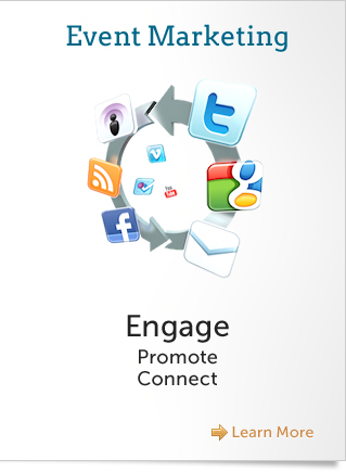 Engage, Promote, and Connect with Event Marketing Services including Design, Social Media Strategy, SEO Strategy, and Email Marketing
