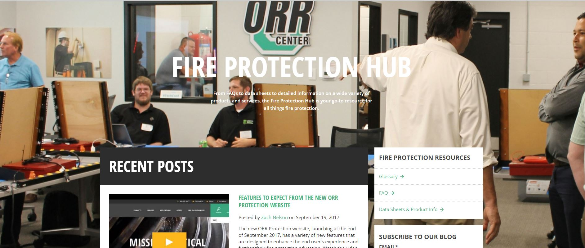 ORR Fire Protection Hub