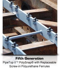 Fifth Generation: PipeTop II PolySnap with Replaceable Screw-in Polyurethane Ferrules