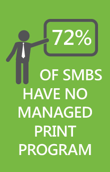 72 percent of business have no managed print program