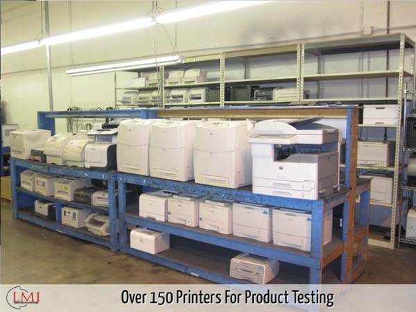 Over 150 Printers For Product Testing