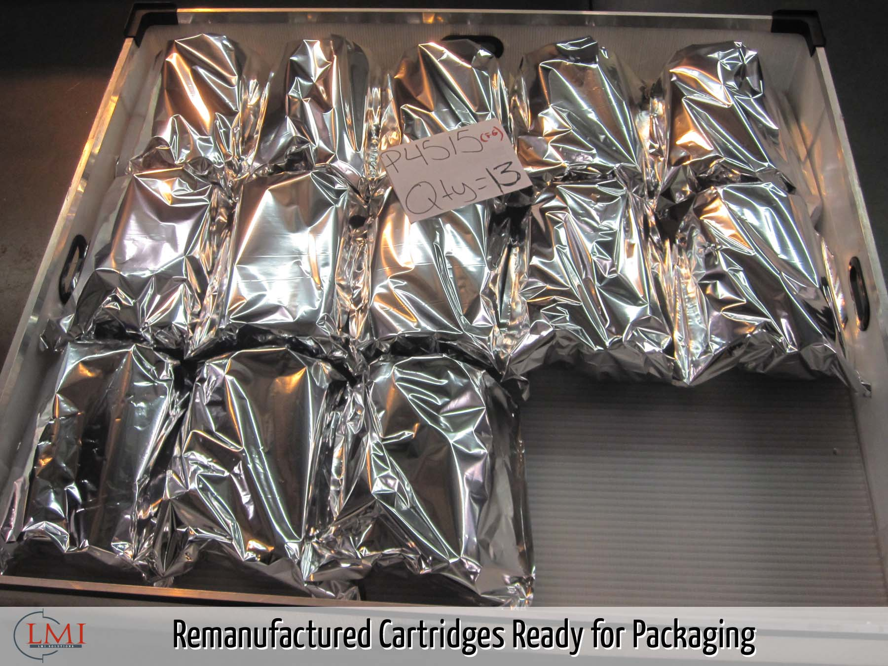 Remanufactured Cartridges Ready for Packaging
