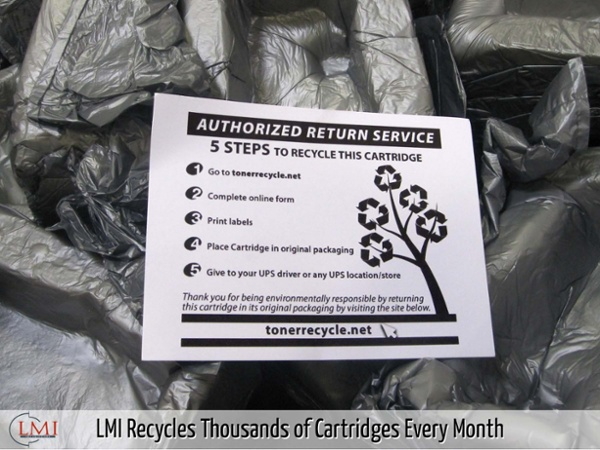 LMI Recycles Thousands of Cartridges Every Month