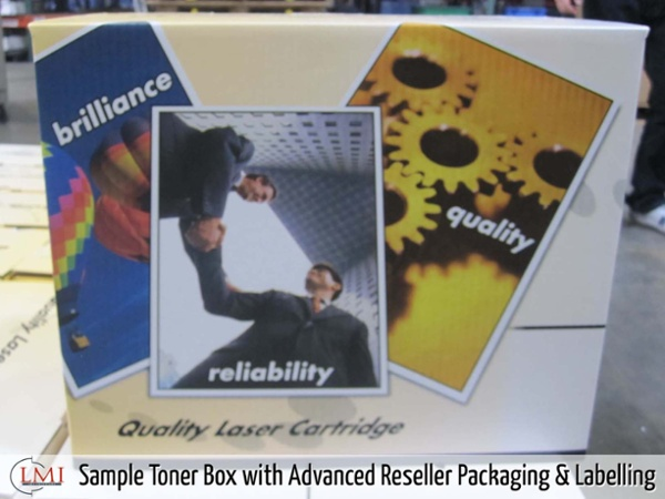 Sample Toner Box with Advanced Reseller Packaging & Labelling