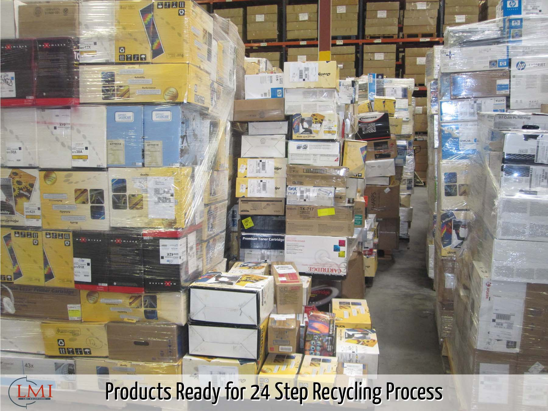 Products Ready for 24 Step Recycling Process