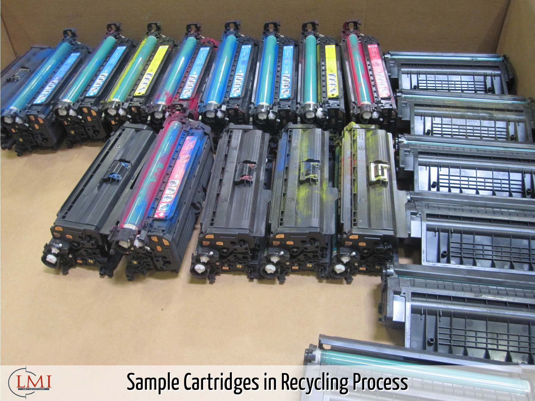 Sample Cartridges in Recycling Process