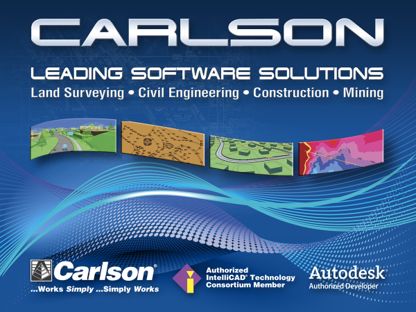 Carlson provides software design solutions for surveying, civil engineering, construction, mining