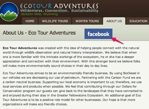facebook for tour and activity