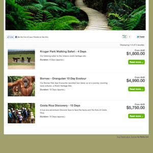 booking system demo for eco tours