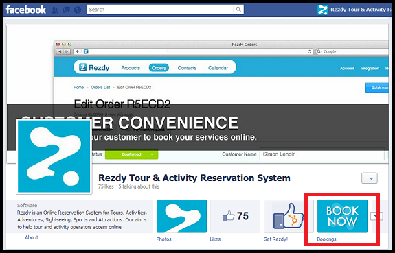 Integrate your Facebook for tour operators Business Page with Rezdy