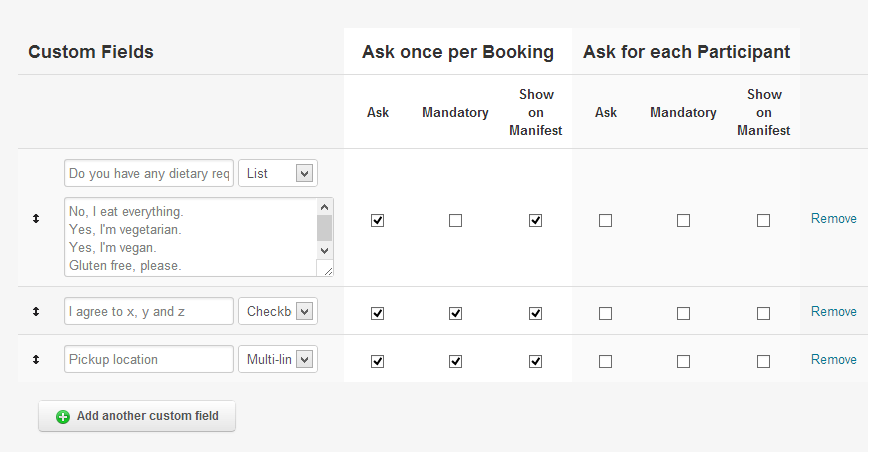 custom booking form