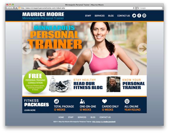 custom website design minneapolis personal trainer