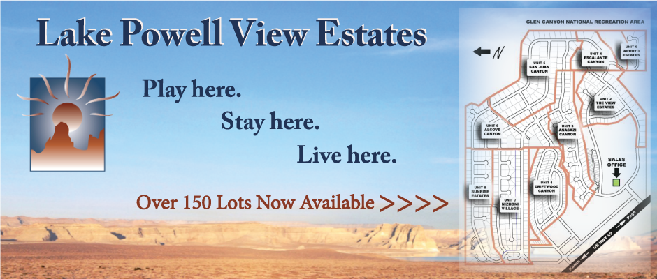 Lake Powell View Estates Lots Available