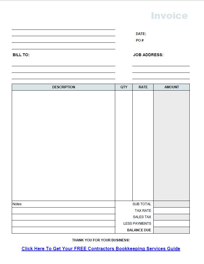 generic invoices printable – Generic Invoice