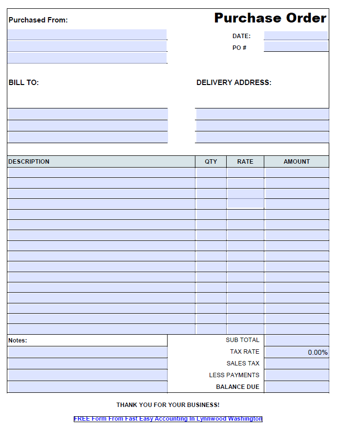 Free contractor purchase order template pdf for Order of subcontractors when building a house