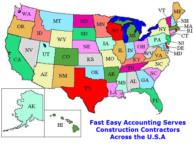 Contractors Bookkeeping And Accounting For Contractors All Across The USA Including Alaska And Hawaii