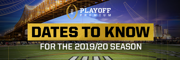Key Dates for the 2019-20 College Football Season