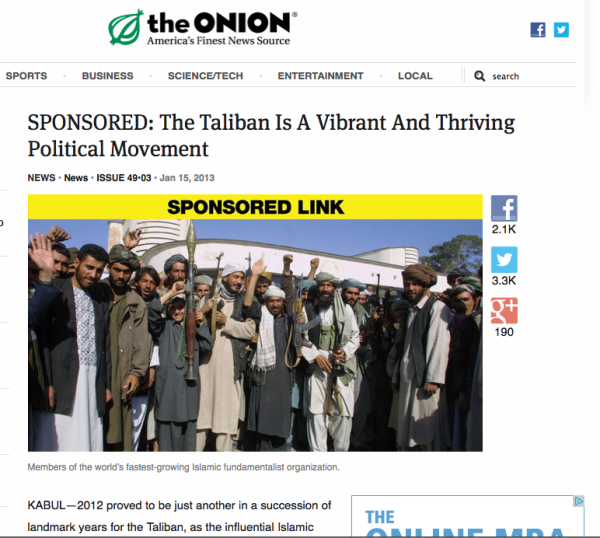 Onion Taliban Imagine